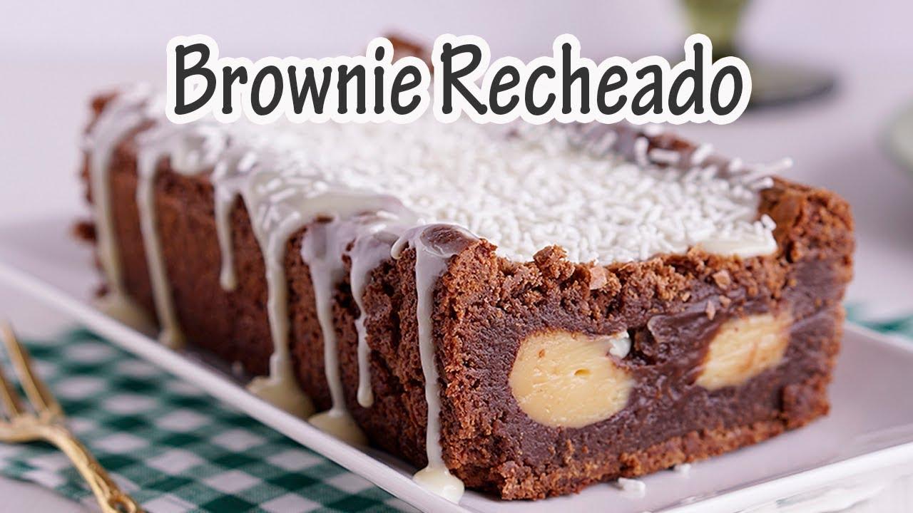 Resultado de imagem para Brownie Recheado Com Brigadeiro