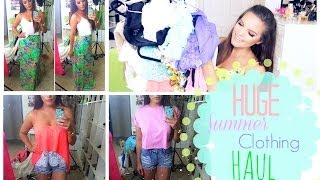HUGE Summer Clothing Haul |  & Try on!