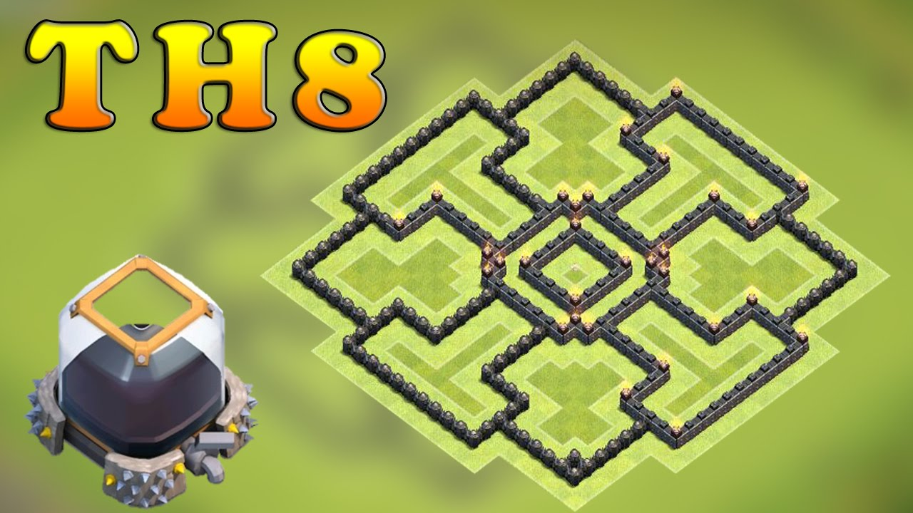 Clash of clans (CoC) | Best Town hall 8 (TH8) Dark Elixir Base