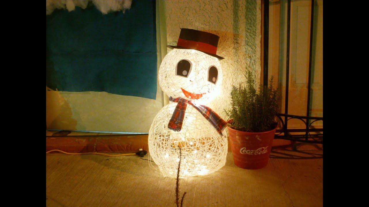 Mu eco nieve con globos youtube - Hacer munecos con globos ...