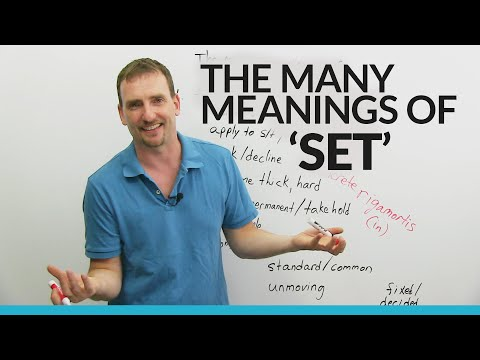 "Learn ""Set"" Vocabulary, Idioms, and Phrasal Verbs!"