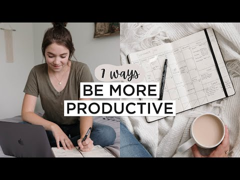 7 SIMPLE Ways To Be More PRODUCTIVE (Without Going Crazy)