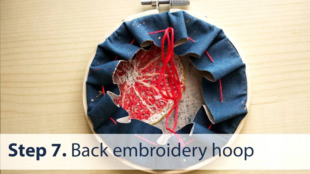 How To Back Embroidery Hoop