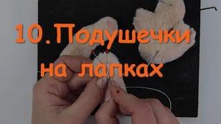 10. Подушечки из шерсти на лапках котенка Тедди