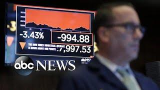 Coronavirus stokes fears on Wall Street l ABC News