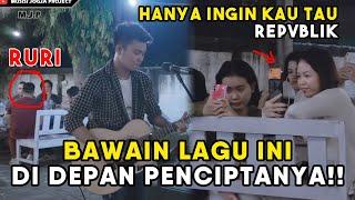 BAWAIN LAGU DI SEBELAH PENCIPTANYA !!! HANYA INGIN KAU TAHU - REPVBLIK (LIRIK) COVER BY TRI SUAKA