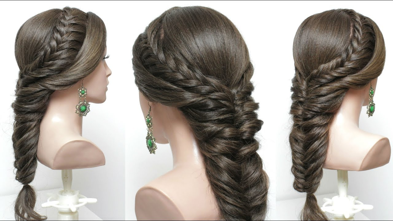 easy party hairstyle with braids