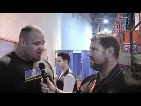 Arnold Strongman Classic 2012 - Brian Shaw interview before the final event