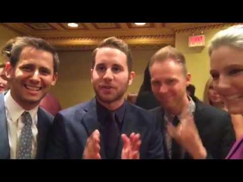 Ben Platt, Benj Pasek & Justin Paul learn about Periscope :-)