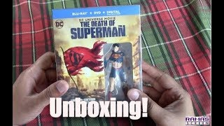 Unboxing | 'THE DEATH OF SUPERMAN' Limited Deluxe Edition Gift Set Blu-ray with Collectible Figurine