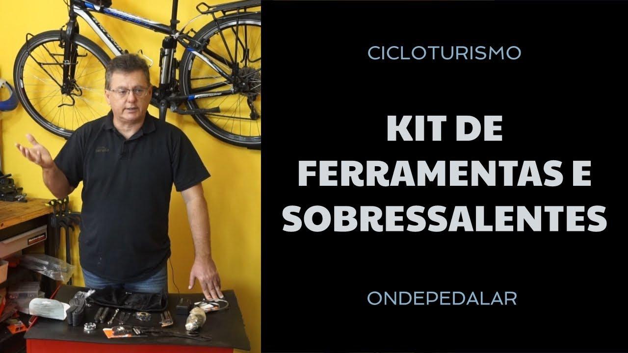 Kit de ferramentas e sobressalentes para cicloviagem