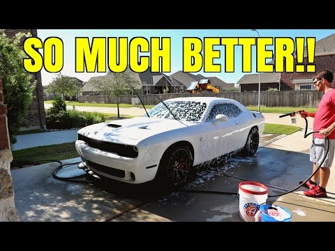 Car Wash & Paint Correction on my Dodge Challenger Hellcat