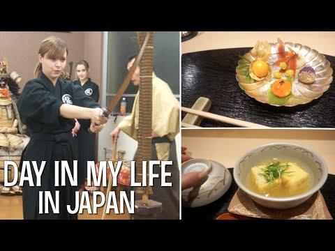 DAY IN MY LIFE IN JAPAN: Japanese Swordsmanship (Iaido) and Vegetarian Japanese Food!