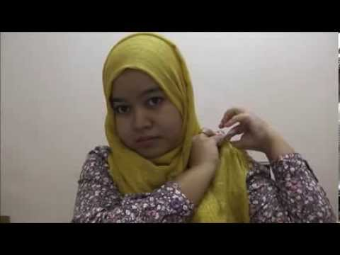 Shawl tutorial for round and chubby face cara pakai shawl untuk muka