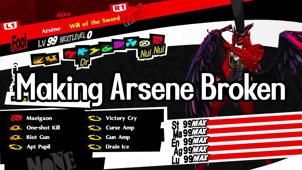 Making Arsene Broken Almighty And Curse Gun Build P5r Youtube The kit replicates arsene to its fine details such as cloths. making arsene broken almighty and curse gun build p5r