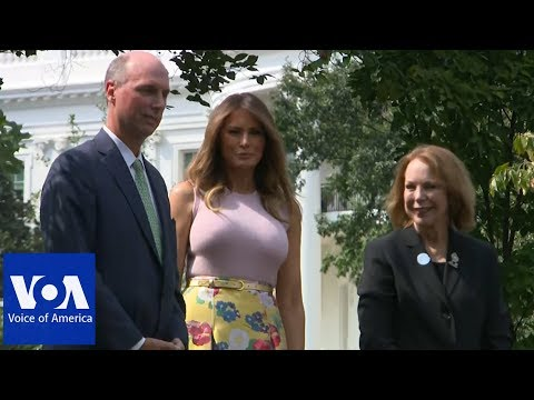 Melania Trump plants presidential tree at White House