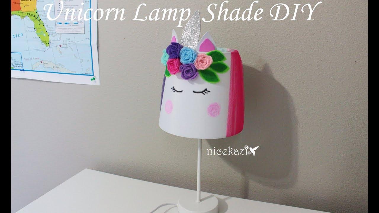 Unicorn lamp shade diy youtube unicorn lamp shade diy solutioingenieria Gallery
