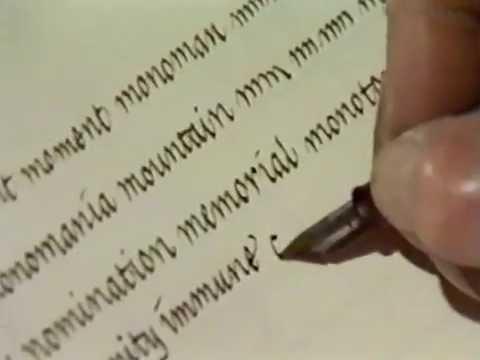 Lloyd Reynolds' Italic Calligraphy & Handwriting Episode 12 - Calligraphy Heritage of Reed College