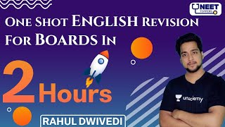 One Shot English Revision For Boards in 2 Hours CBSE English 2021 Rahul Dwivedi