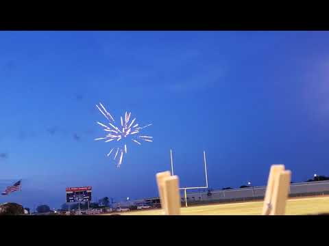 Ben Bolt Palito Blanco High School Graduation fireworks. (May 31, 2019)