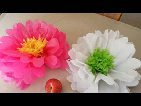 How to Make Giant Tissue Paper Flowers