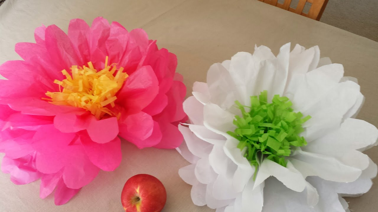 How To Make Tissue Paper Flowers Youtube