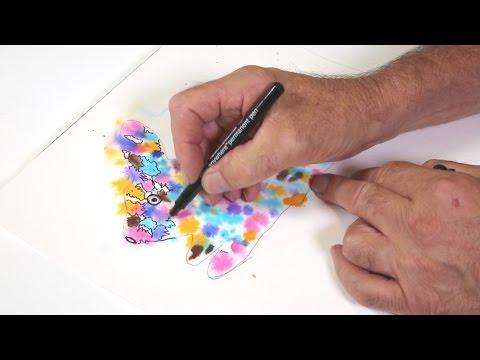 IDEA Easter Watercolour Art with Micador For Artists Brilliant Watercolour Discs