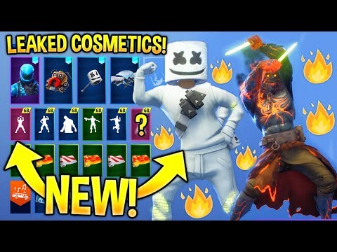 *NEW* All Leaked Fortnite Skins & Emotes..! (Marshmello Skin, GlowSticks, Keep It Mello)
