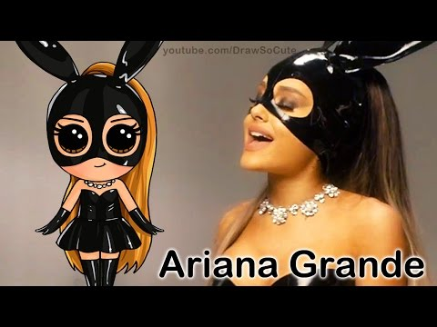 How to Draw Chibi Ariana Grande step by step Cute Dangerous Woman Music Video