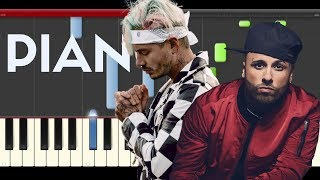 nicky jam x equis j balvin piano midi tutorial sheet app cover karaoke