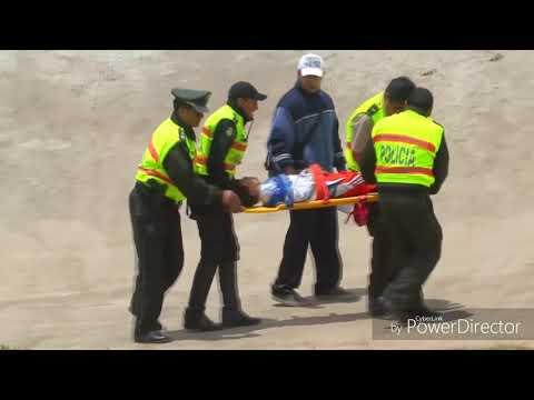 Downhill vs BMX Race crash