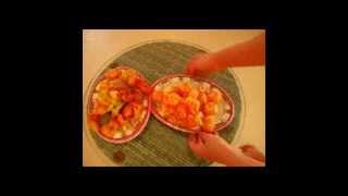Салаты из креветок с мандаринами-рецепты на Новый Год.