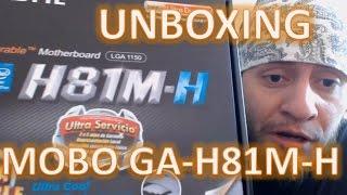 Unboxing Motherboard Gigabyte H81M-H LGA 1150 Chipset Intel H81 HDMI SATA 6Gb/s USB 3.0 Micro ATX