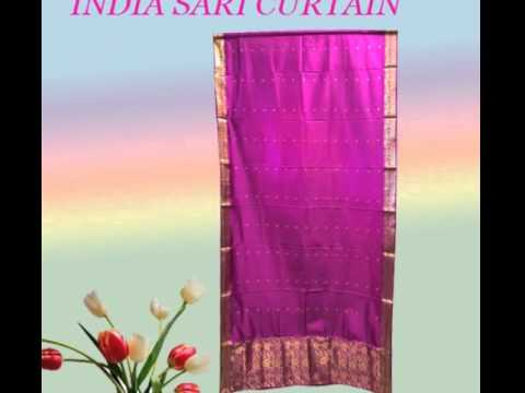Home Decor Indian Sari Curtain
