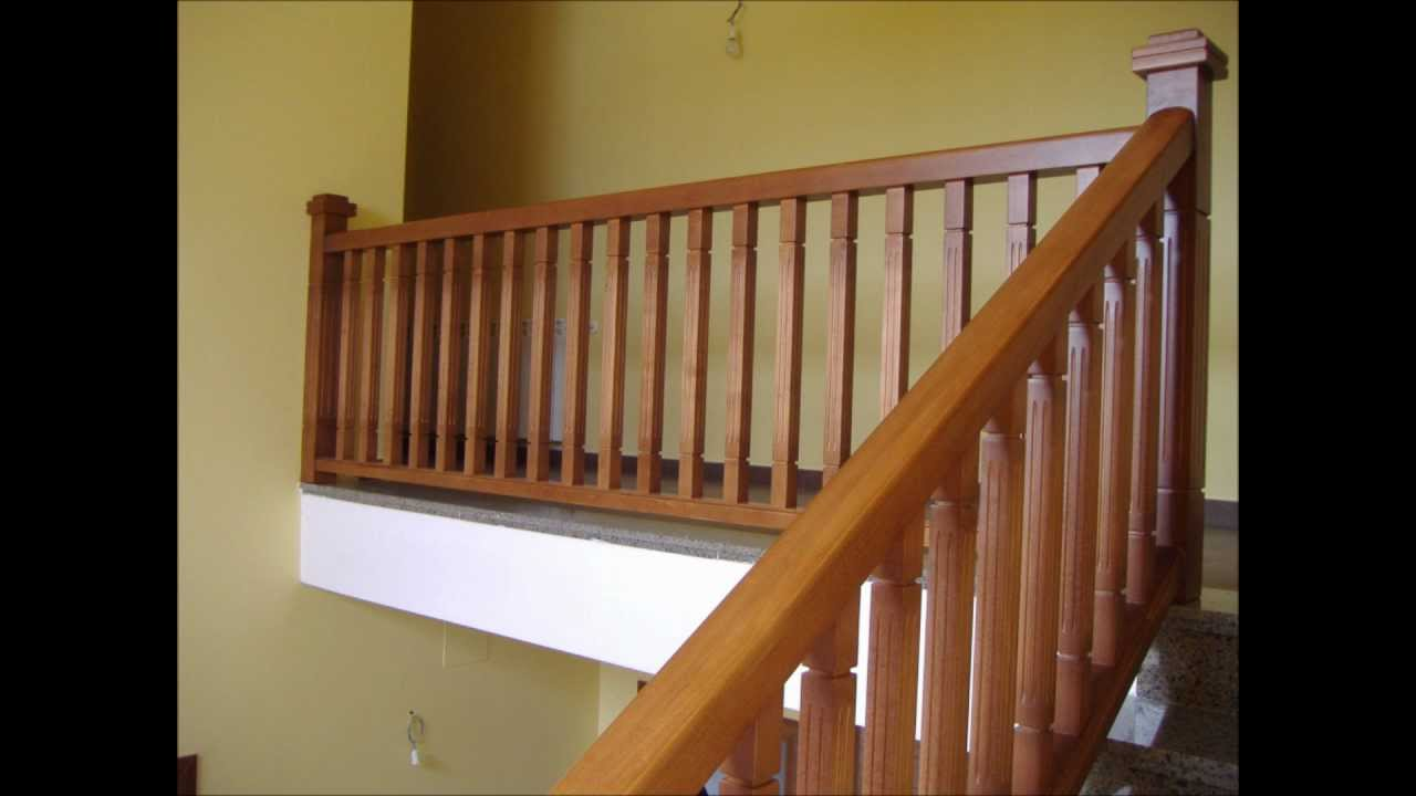 Barandas y youtube for Imagenes de escaleras de madera para interiores