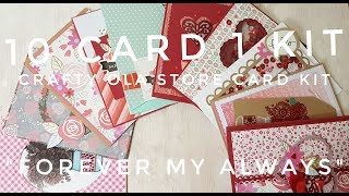 10 cards 1 kit Crafty Ola Store Card Kit of the Moth February 39 18 39 39 Forever my Always 39 39