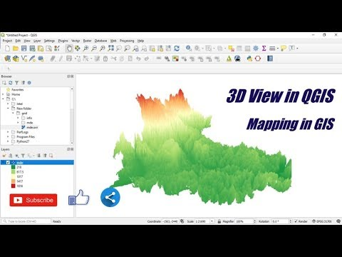 3D view in QGIS 3 4 – Mapping in GIS