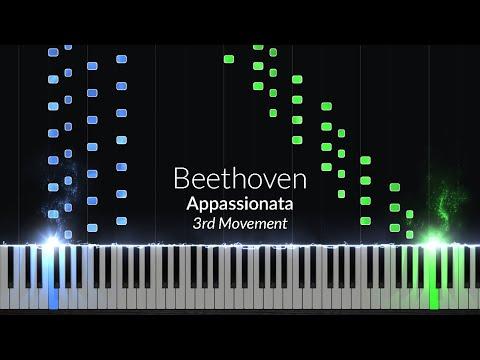 Appassionata 3rd Movement - Opus 57 No. 23 [Piano Tutorial] (Synthesia)