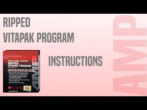 Ripped Vitapak Instructions
