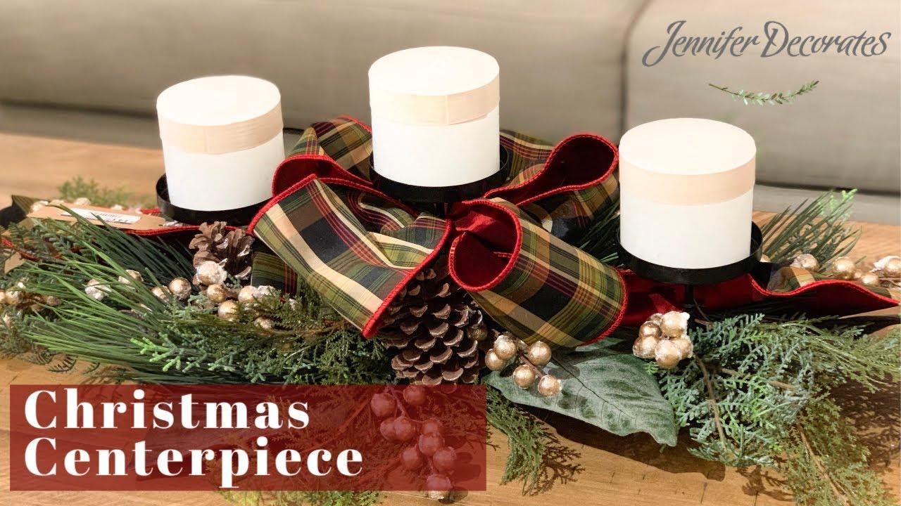Christmas Decorating Christmas Centerpiece Ideas Youtube