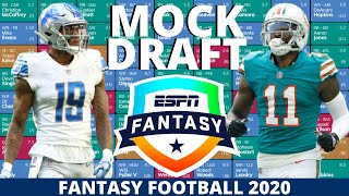 2020 Fantasy Football Mock Draft (PPR) - 12 Team - Pick 12