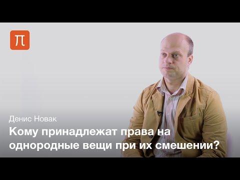 Правовые последствия смешения вещей — Денис Новак