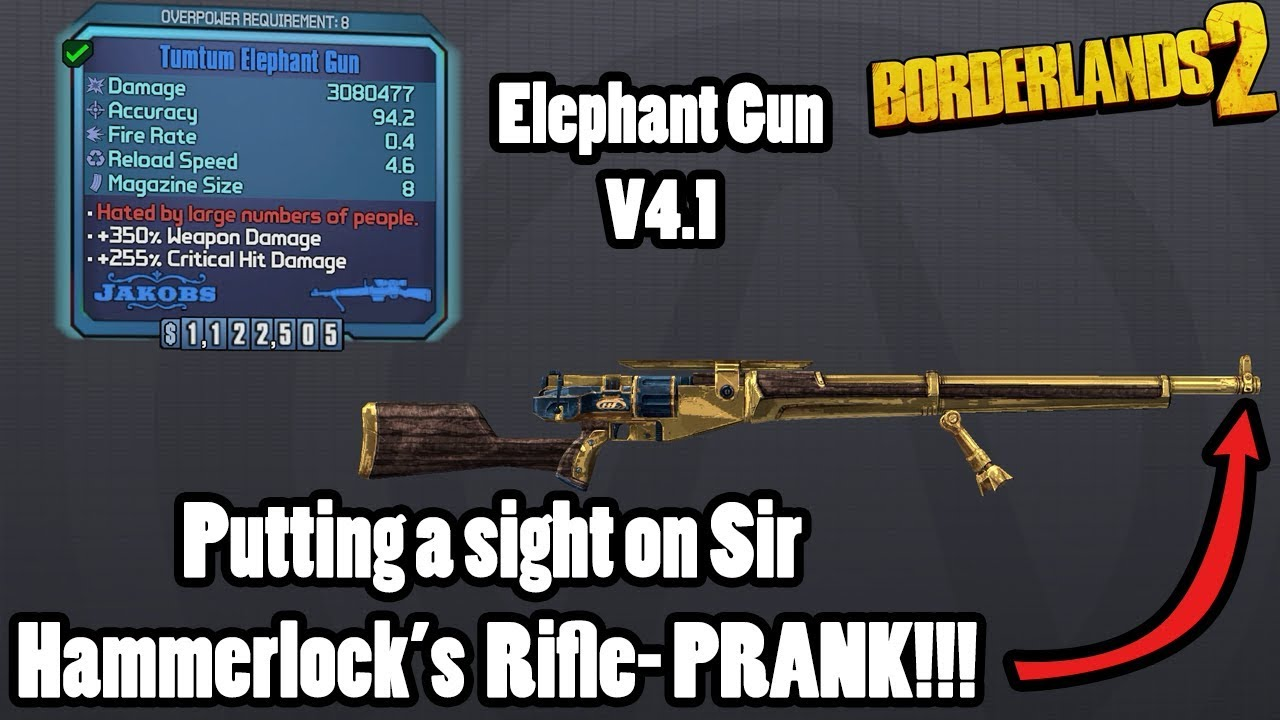 Borderlands 2: Another buff for the Elephant Gun in newest community patch