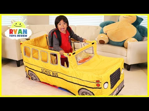 Ryan Pretend Play with School Bus Tent!