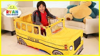 Ryan Pretend Play with School Bus Tent! thumbnail