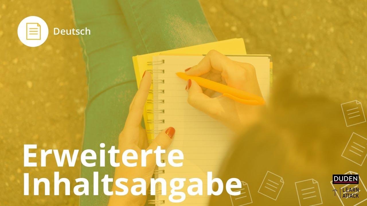 Erweiterte Inhaltsangabe Das Musst Du Beachten Deutsch Duden