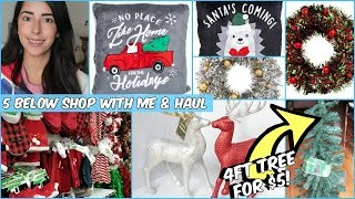 FIVE BELOW CHEAP CHRISTMAS DECOR 2018 COME WITH ME & HAUL