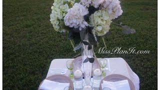 DIY: Lets Set The  Table with our Garden Tower Centerpiece and Dollar Store Finds!