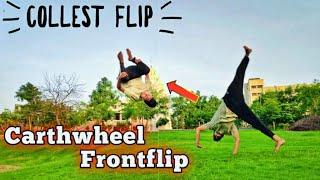 Carthwheel Front flip progression / Coolest flip ever 🔥😍