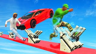 IMPOSSIBLE MILE HIGH ELECTRIC DEATHRUN! (GTA 5 Funny Moments)